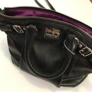 Black Leather Crossbody Bag - COACH